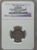 Civil War Merchants, 1863 J.R. Foote, Paw Paw, MI, F-745A-3a, R.8 - Environmental Damage- NGC Details. AU.. From The Clifton A. Temple Collect...