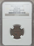 Civil War Merchants, 1863 E.C. Keating, Hillsdale, MI, F-450H-1a, R.9, AU58 NGC..From The Clifton A. Temple Collection....