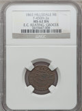 Civil War Merchants, 1863 E.C. Keating, Hillsdale, MI, F-450H-2a, R.7, MS62 Brown NGC..From The Clifton A. Temple Collection....