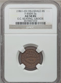 Civil War Merchants, (1861-65) E.C. Keating, Hillsdale, MI, F-450H-3a, R.7, AU58 NGC..From The Clifton A. Temple Collection....