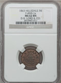 Civil War Merchants, 1863 D.H. Lord & Co., Hillsdale, MI, F-450I-1a, R.9, MS62 BrownNGC.. Purchased from Amer L. Lincoln (12/11/1939) for 25c...