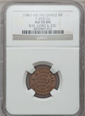 Civil War Merchants, (1861-65) D.H. Lord & Co., Hillsdale, MI, F-450I-2a, R.7, AU58NGC.. Purchased from J. Barnet (9/26/1938) for 25 cents....