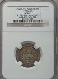 Civil War Merchants, (1861-65) A. Parker, Pontiac, MI, F-770C-1ep, R.9, MS62 NGC..Purchased from James Kelly (12/20/1941) for 50 cents. Saidt...