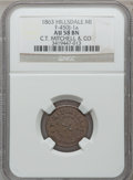 Civil War Merchants, 1863 C.T. Mitchell & Co., Hillsdale, MI, F-450J-1a, R.7, AU58NGC.. Purchased from James Kelly (12/20/1941) for 35 cents....
