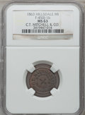 Civil War Merchants, 1863 C.T. Mitchell & Co., Hillsdale, MI, F-450J-1b, R.9, MS63NGC.. Purchased from James Kelly (12/20/1941) for 60 cents....
