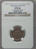 1863 I. Allen & Son, Schoolcraft, MI, F-900A-2a, R.7, VF30 NGC. From The Clifton A. Temple Collection