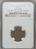 Civil War Merchants, 1861 C.E. Mott & Co., Hillsdale, MI, F-450K-2a, R.6, AU55 NGC..From The Clifton A. Temple Collection....
