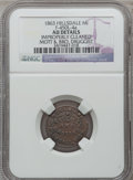 Civil War Merchants, 1863 Mott & Brother, Hillsdale, MI, F-450L-4a, R.7 - ImproperlyCleaned - NGC Details. AU.. Purchased from J. Canfield(2/...