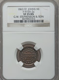 Civil War Merchants, 1863 G.W. Stephenson, St. Johns, MI, F-915A-2a, R.6, VF35 NGC..Purchased from James Kelly (12/20/1941) for 45 cents.. ...
