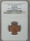 Civil War Merchants, (1861-65) Dr. E. Hause, Tecumseh, MI, F-920B-5a, R.9, MS64 Red andBrown NGC.. Purchased from J. Canfield (2/13/1971) for ...