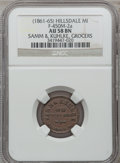Civil War Merchants, (1861-65) Samm & Kuhlke, Hillsdale, MI, F-450M-2a, R.6, AU58NGC.. From The Clifton A. Temple Collection....