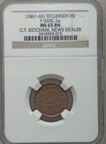 Civil War Merchants, (1861-65) G.T. Ketcham, Tecumseh, MI, F-920C-2a, R.9, MS65 BrownNGC.. Purchased from George Fuld (9/17/1958) for $2.50....