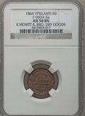 Civil War Merchants, 1864 E. Hewitt & Brother, Ypsilanti, MI, F-960A-5a, R.8 AU58NGC.. Purchased from B. Gilman (12/3/1937).. From TheCli...