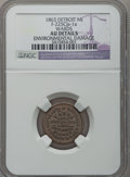 Civil War Merchants, 1863 Ward's Lake Superior Line, Cleveland, OH, F-175Q-1a, R.6 -Environmental Damage - NGC Details. AU.. The Fuld revision c...