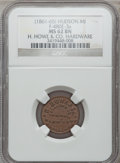 Civil War Merchants, (1861-65) H. Howe & Co., Hudson, MI, F-480E-3a, R.7, MS62 BrownNGC.. From The Clifton A. Temple Collection....