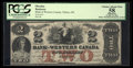 Canadian Currency: , Clifton, ON- The Bank of Western Canada $2 Sept. 20, 1859 Ch #795-10-08. ...