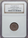 Civil War Merchants, 1863 Alden & Frink, Cohoes, NY, MS64 Brown NGC.Fuld-NY140A-01a....