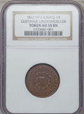 Civil War Merchants, 1863 Gustavus Lindenmueller, New York, New York AU58 NGC.Fuld-NY630AQ-1a....