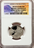 Proof National Parks Quarters, 2010-S 25C Grand Canyon National Park Clad PR69 Ultra Cameo NGC.PCGS Population (1058/228). (#418843)...