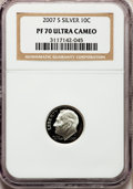 Proof Roosevelt Dimes, 2007-S 10C Silver PR70 Ultra Cameo NGC. NGC Census: (0). PCGSPopulation (405). Numismedia Wsl. Price for problem free NGC...