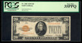 Small Size:Gold Certificates, Fr. 2402 $20 1928 Gold Certificate. PCGS Very Fine 35PPQ.. ...