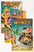 Golden Age (1938-1955):War, Wings Comics #70-75 Group (Fiction House, 0).... (Total: 6 ComicBooks)