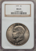 Eisenhower Dollars, 1971 $1 MS65 NGC. NGC Census: (582/32). PCGS Population (715/41). Mintage: 47,799,000. Numismedia Wsl. Price for problem fr...