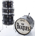 Musical Instruments:Drums & Percussion, Late 1960s Ludwig Black Oyster Pearl Drum Set....