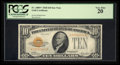 Small Size:Gold Certificates, Fr. 2400* $10 1928 Gold Certificate. PCGS Very Fine 20.. ...