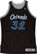 Basketball Collectibles:Uniforms, 1995-96 Shaquille O'Neal Signed Game Issued Orlando MagicJersey....