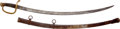 Edged Weapons:Swords, U.S. Civil War Model 1840 Artillery Sword with Scabbard....