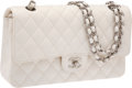 Luxury Accessories:Bags, Chanel Classic White Caviar Leather Double Flap Bag with SilverHardware. ...