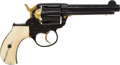 Handguns:Double Action Revolver, Custom Engraved Colt Model 1877 Thunderer Double-Action Revolver....