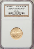 Modern Issues, 2007-W $5 Jamestown MS70 NGC. Ex: US Vault Collection L/M. NGC Census: (2407). PCGS Population (714). Numismedia Wsl. Pric...