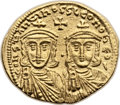 Ancients:Byzantine, Ancients: Constantine V Copronymus (AD 741-775). AV solidus (21mm,4.40 gm, 6h). ...