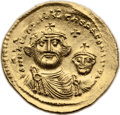 Ancients:Byzantine, Ancients: Heraclius (AD 610-641). AV solidus (23mm, 4.45 gm, 6h)....