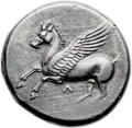 Ancients:Greek, Ancients: ACARNANIA. Leucas. Ca. 320-280 BC. AR stater (22mm, 8.59gm, 6h). ...