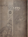 "Transportation:Space Exploration, Apollo 1 Crew-Signed NASA ""Apollo Saturn Mission AS 202"" BookletDirectly from the Personal Collection of Roger Chaffee's Daug..."