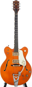 Musical Instruments:Electric Guitars, 1964 Gretsch Nashville Orange Semi-Hollow Body Electric Guitar,Serial #71905....
