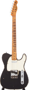 Musical Instruments:Electric Guitars, 1967 Fender Telecaster Black Electric Guitar Serial # 215087....
