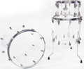 Musical Instruments:Drums & Percussion, 1969 Zickos 3-Piece Acrylic Drum Set...