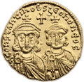 Ancients:Byzantine, Ancients: Constantine V Copronymus (AD 741-775). AV solidus (20mm,4.44 gm, 6h). ...