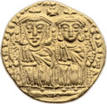 Ancients:Byzantine, Ancients: Leo IV, the Khazar (775-780). AV solidus (21mm, 4.40 gm,6h). ...