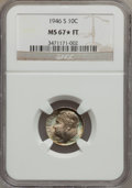 1946-S 10C MS67 ★ Full Torch NGC. NGC Census: (202/1). PCGS Population (124/5). Mintage: 27,900,000. Numismedia Wsl. Pri...