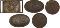 Antiques:Antiquities, Lot of Assorted Excavated Civil War Union Belt and AccoutrementPlates....