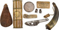 Arms Accessories:Horns, Lot of Six Assorted Civil War Arms Accessories. ... (Total: 9 )