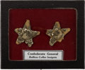 Antiques:Antiquities, Pair of Civil War Period Or Earlier Bullion Five Pointed Stars...