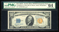 Small Size:World War II Emergency Notes, Fr. 2309 $10 1934A North Africa Silver Certificate. Late Finished Face Plate 86 PMG Choice Uncirculated 64.. ...