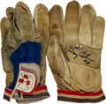 Baseball Collectibles:Uniforms, 1980's Gary Carter Game Used Batting Gloves Lot of Two. ...