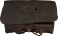 Antiques:Antiquities, Rare Civil War Confederate Locally Manufactured Infantry CartridgeBox....
